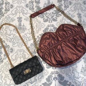 2 Cute Purses-lips and quilted